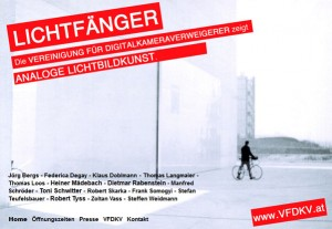 Lichtfänger – Ausstellung der Vereinigung für Digitalkameraverweigerer in Wien
